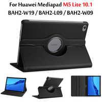 360 étui pour huawei MediaPad M5 Lite 10 étui BAH2-W09/W19/L09 10.1 ''tablette intelligente Auto sommeil/réveil support en cuir