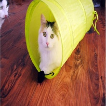 TAILUP New 3 Colors Cat Tunnel  Folding Lovely Pet Channel Home Indoor Cats Training Toys Funny For Your Cat 19.7 IN Long Cute