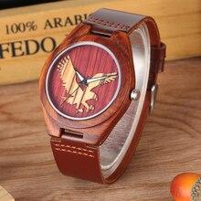 Quartz Wood Watches Unique Three-dimensional Eagle Pattern D