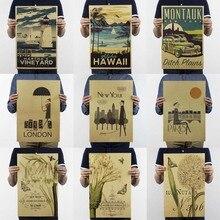 Постеры и принты/Винтаж Нью-Йорк плакат наклейки на стену кофе украшение кухня ретро гостиная декоративная живопись