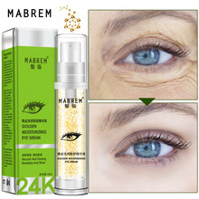 Mata 10 Ml Serum 24 K Golden Moisturizing Mata Serum Anti-Aging Anti-Kerut Siput Remover Lingkaran Gelap whitening Eye Cream Perawatan Kulit(China)