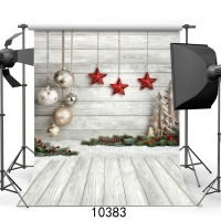 SJOLOON Christmas background Photography baby photography backdrops wood & stars photographic background fond studio vinyl props