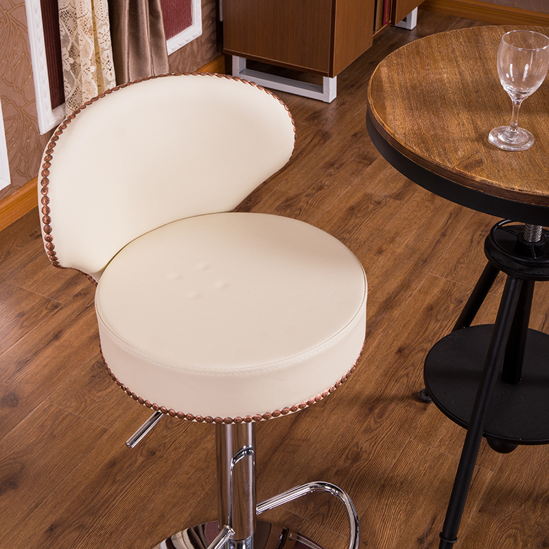 Original Modern Genuine Leather Bar Stool Brown Or Beige White Natural Cowhide Bar Chair Set Classic Adjustable Bar Stools homall bar stool walnut bentwood adjustable height leather bar stools with black vinyl seat extremely comfy with seat back pad