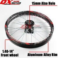Dirt bike Front Wheels 1.40x14inch Alloy Rim For KAYO BSE Apollo Xmotos CRF KLX TTR 50 110 125 140 160cc Pit Bike Spare Parts