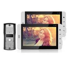 ENVÍO GRATIS Home Wired 7 pulgadas Táctil a Color TFT de Vídeo Portero Automático Intercom Kit/Set Con 2 Pantalla + Cámara de La Puerta Blanca EN STOCK