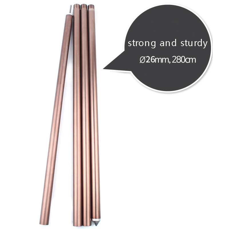 5-8 People Camping Awning Pole Aluminium Alloy Awning Rod Tent Poles Tar Tarpaulin for Camping Awning Accessory Kit 2pcs brand 2pcs set camping awning pole aluminium alloy awning rod tent poles canopy tent building sun shelter pole tent accessories
