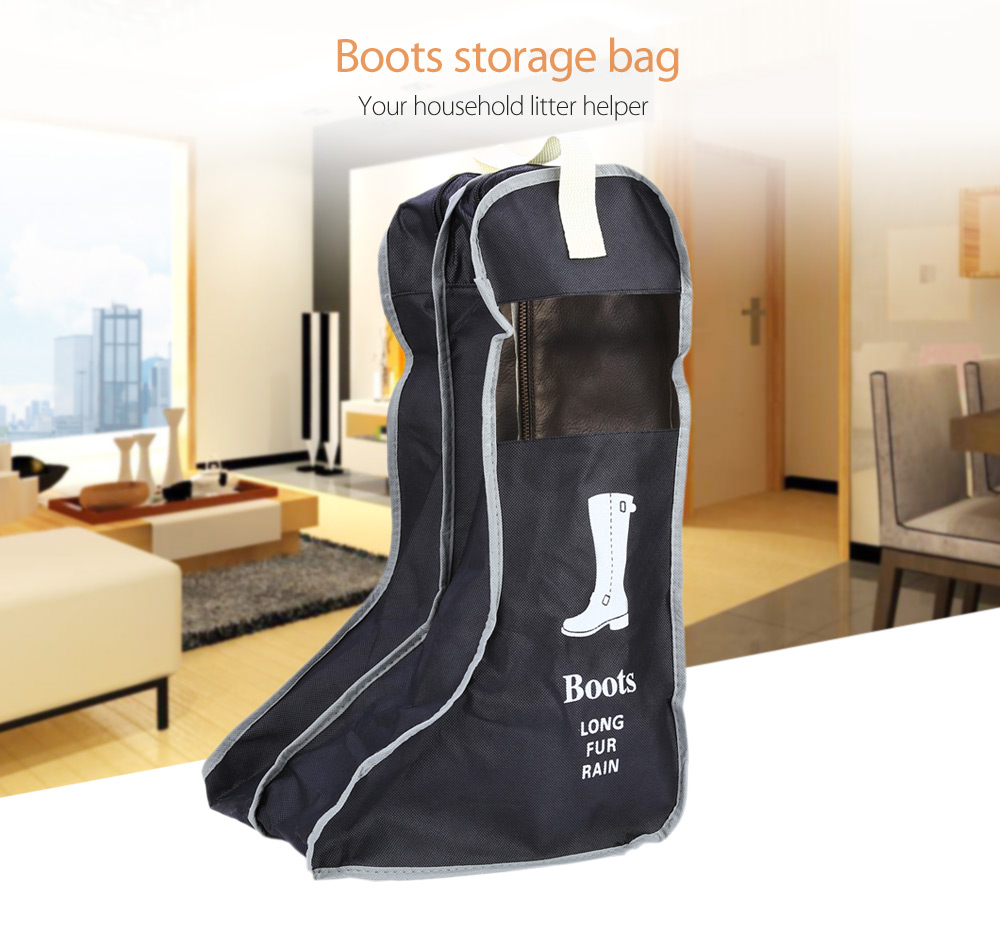 Portable MuHui Boots Storage Bags Hanging Closet Cabin Shoe Cover Boots  Organizer Sack Storaging Bag With