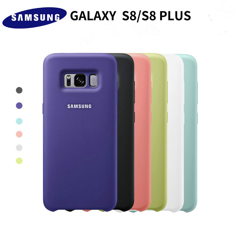 100 Original Samsung Silicone Cover Case For Samsung Galaxy S8 S8 PLUS G9550 9500 EF PG950
