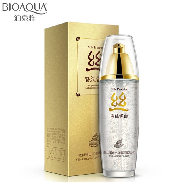BIOAQUA Silk Protein Hyaluronic Acid Liquid Anti Face Care Wrinkle Serum Whitening Moisturizing Skin Care Anti Aging 100g