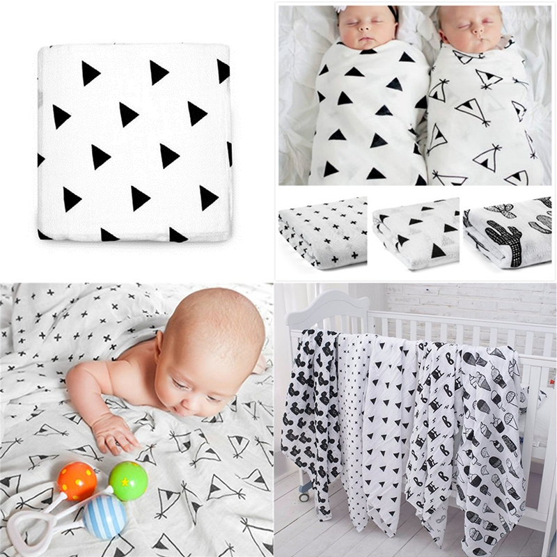 Multifunctional Muslin Soft Newborn Baby Bath Towel Swaddle Blankets Baby Wrap Swaddles For Newborns Double Layer Gauze Bath