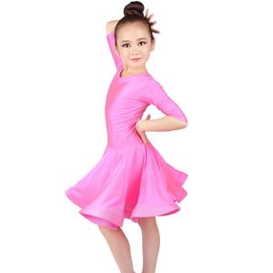 Image 5 - new Latin Dance Dress For Girls Latin Costume Child Kids Dancing Dress Girl Dancewear Kid Competition Latin Dress High Quality