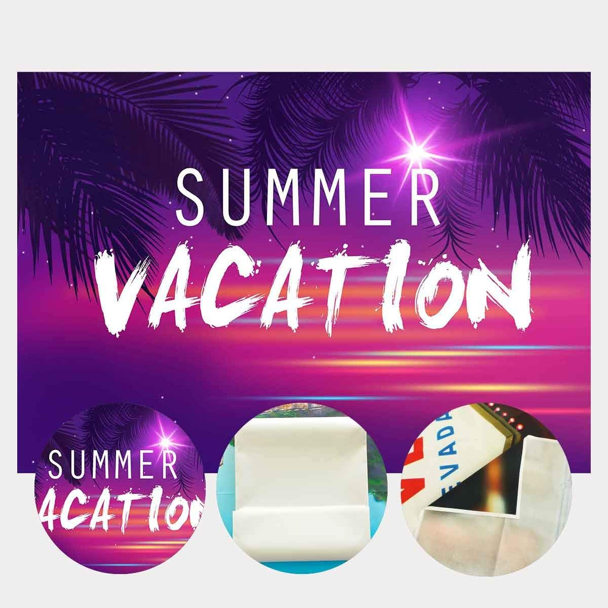 Image 3 - 7x5ft Summer Vacation Backdrop Ultra Violet Color Photo Backdrops Coconut Tree Branch Photography Background Studio Props-in Photo Studio Accessories from Consumer Electronics