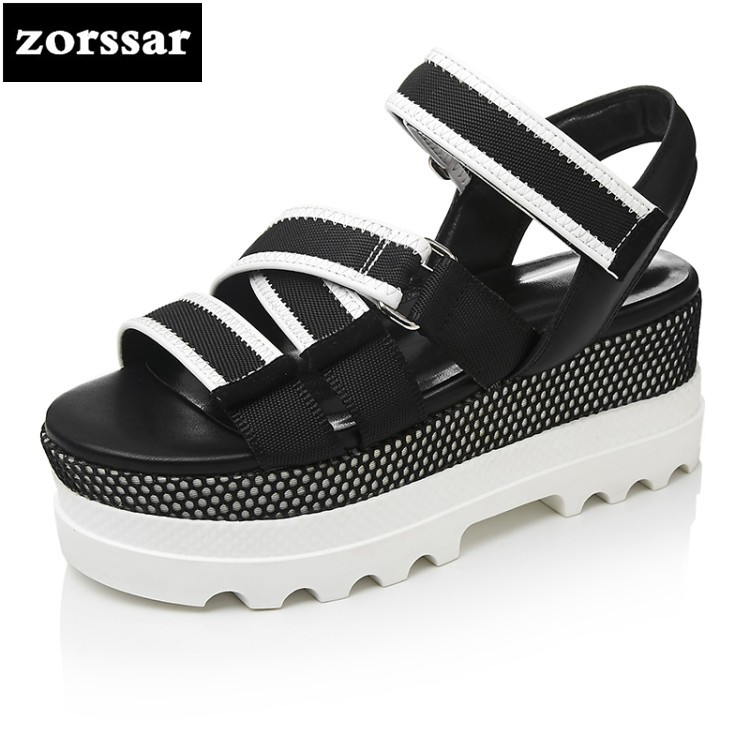 {Zorssar} 2018 New Summer shoes Women Sandals flats shoes Open Toe Platform Sandals shoes Casual flat Women Sport Sandals nemaone new 2017 women sandals summer style shoes woman platform sandals women casual open toe wedges sandals women shoes
