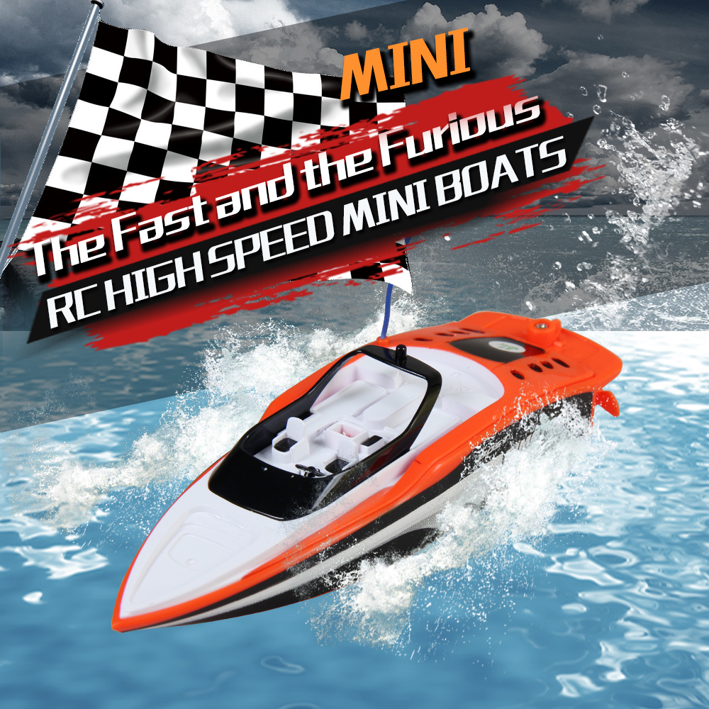 Us 22 83 2 4g Rechargable Mini Rc Boat With Waterproof Speedboat High Speed Remote Control Boats Rc Ship Simulation Speed Craft Gift Toys In Rc