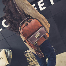 Women backpack female brand back pack college style leather backpack school backpacks vintage student schoolbag retro rucksack