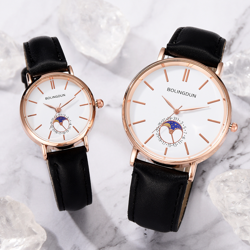 Fashion Leather Couple Watches For Women & Men Simples Creative Sports Quartz Clock Ladies Casual Dress Wristwatch Reloj Mujer