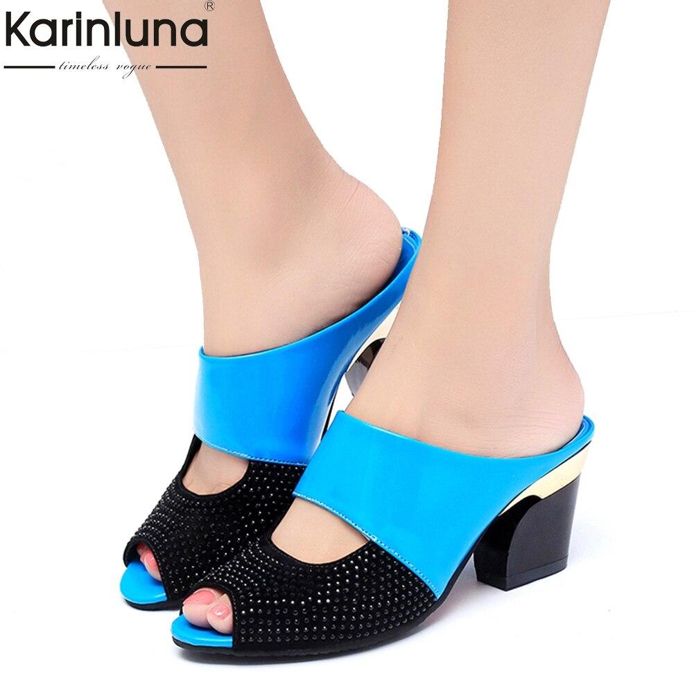 Karinluna 2018 descuento Mujer Sandalias flip flops al por mayor tacones altos verano las Sandalias Mujer Zapatos Mujer Partido fecha zapatillas