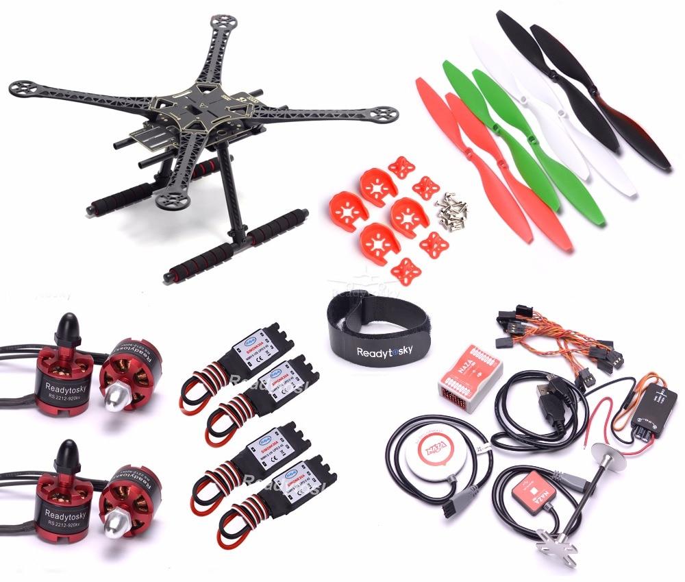 S500 إطار quadcopter نازا m لايت M8N gps ث/pmu السلطة وحدة 2212 920kv محرك 30a simonk esc 1045 المروحة سوبر كومبو-في قطع غيار وملحقات من الألعاب والهوايات على  مجموعة 1
