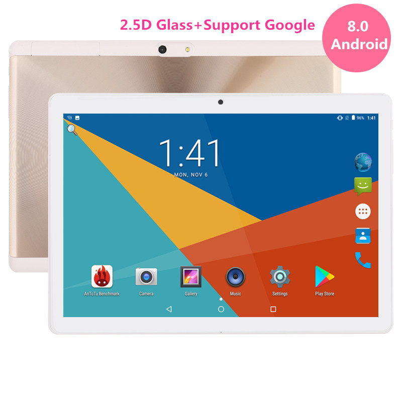 Google Play Store Android 8.0 OS 10 pouce tablet Octa Core 3g 4g FDD LTE 4 gb RAM 64 gb ROM Double Caméras tablet 10 10.1