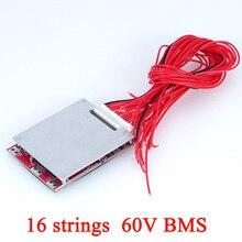 Paquete de batería de bicicleta eléctrica, placa de protección de circuito de 60V, 30A, 80A, 18650, pcb, 64V, 16 cuerdas, BMS