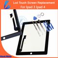 LL TRADER Good Quality AAA Replacement for ipad 3 for ipad 4 Touch Screen High screen Digitizer Glass + Adhensive + Free Tools