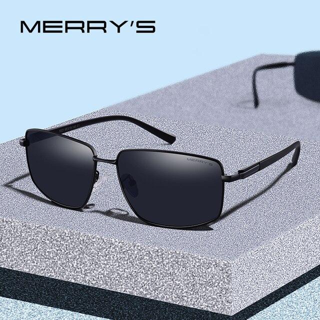 Diseño Merry's Clásico De Sol Hombres Gafas Cuadrado Polarizadas EDWH92I