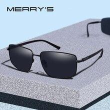 MERRYS diseño hombres clásico cuadrado gafas de sol polarizadas para conducir deportes al aire libre de la luz Ultra Serie UV400 protección S8131