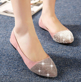 2016 Primavera Sapatos de Verão Das Sandálias Das Mulheres Senhoras Strass Loafers Flat Shoes Mulher Formal Vestido Sapatos Sandálias Flat Mulheres Mocassins