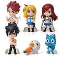 Japão animação modelo da mão Fairy Tail Lucena Ziha de ação PVC figuras brinquedos bonecas 6 pçs/set enviar os presentes