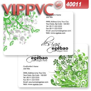 a40011 Fine Frosted Business cards white plastic  PVC card