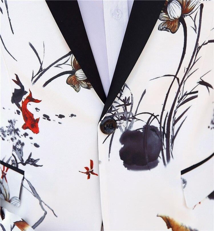 Slim Fit Picture Smoking Mariage Imprimé Hommes Spéciale Color De Stock Mode Marié Folobe Costumes Offre Formelle Parti Costume Blanc Casual Wear FBXpIxq