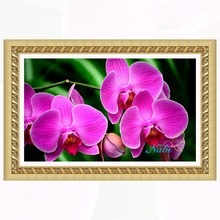 Flower orchid Round diamond mosaic painting diamond embroidery cross stitch - 3d diy beaded picture beadwork sale 4435R
