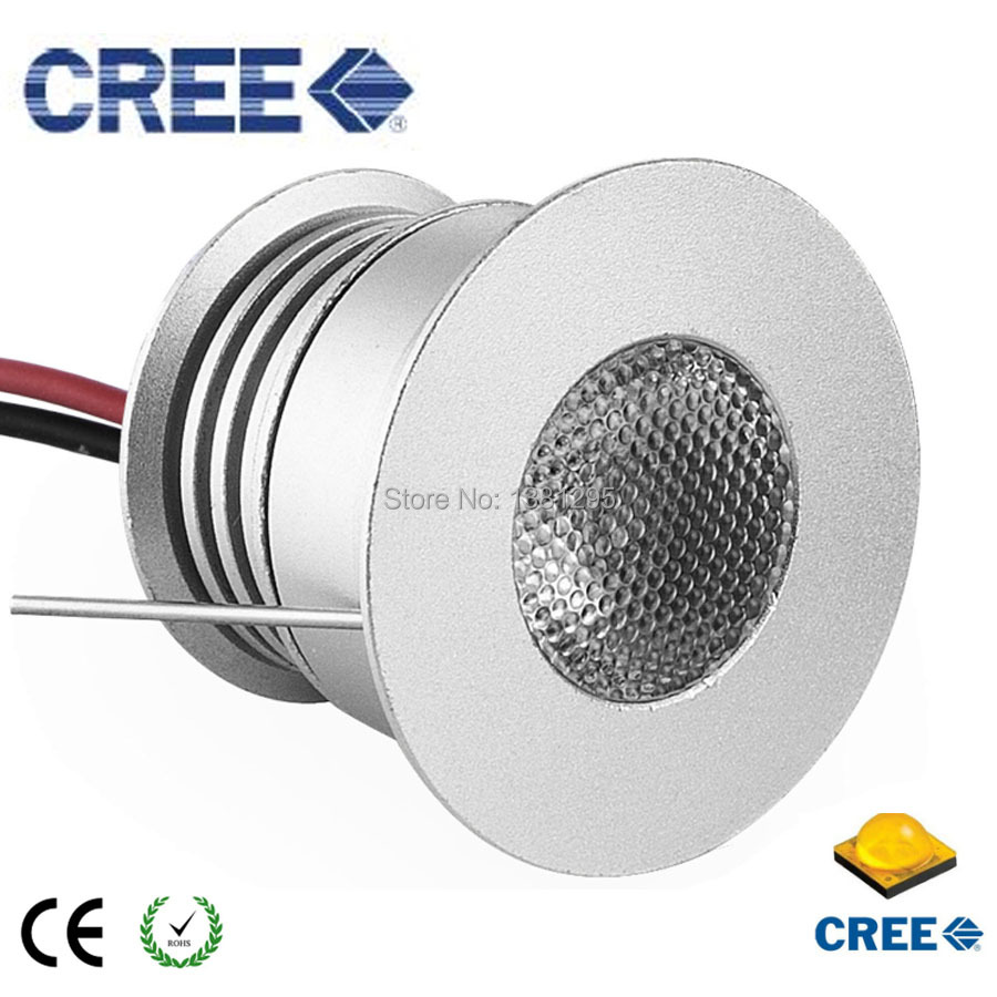 3W 3V 12V Round Mini LED Kitchen Under Cabinet Light Lamp