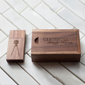 (Over 5pcs Free Custom Logo) Real Capacity 4/8/16/32GB Walnut Wooden USB Flash Drive /Pendrive+ Wooden Box Custom Logo Engrave