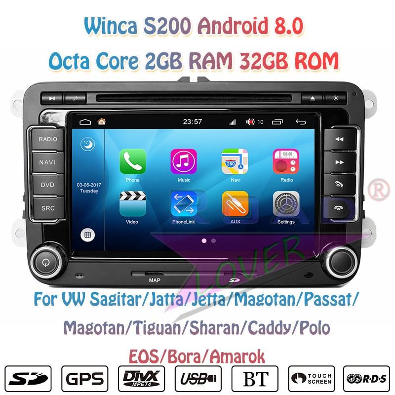 Winca S200 Android 8.0 Jogador Do Carro DVD Para 7