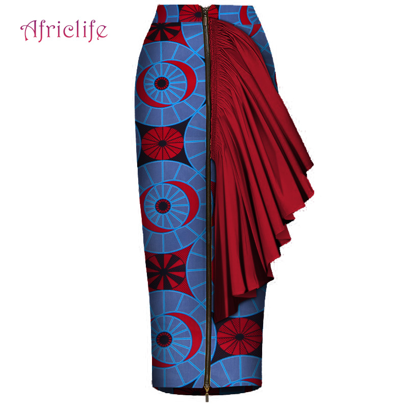Hot Selling New African Women Custom Mid Calf Length Skirt Sexy Style african print blazers dress African Ankara Skirt WY4408