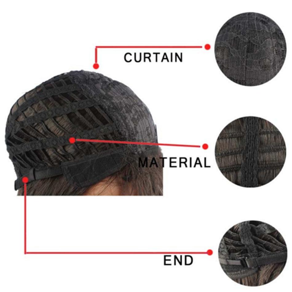 Feilimei Afroamerikansk Bob Wig 10Inch 160g Syntetisk Kanekalon Kort - Syntetiskt hår - Foto 4