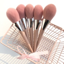 BBL 1 Piece Pink Premium Loose Powder Makeup Brush Blush / Highlighter Soft Seamless Complexion Essentials Make Up Tools