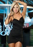 Free Shipping The New 2014 Noble Ladies Women S Clothing Drape Straps Cross Deep V Nightclub