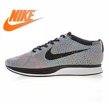 Original Authentic Nike Flyknit Racer Men's Running Shoes Sh