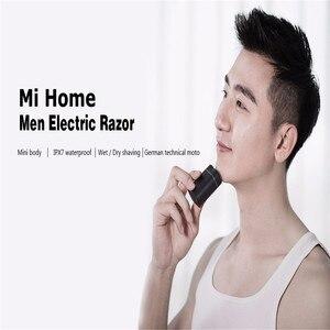 Image 2 - Original Youpin Mijia Zhibai Hause Elektrische Rasierapparate Für Männer Wasserdicht Nass Trocken Rasieren Doppel Ring Klinge USB Aufladbare Rasiermesser