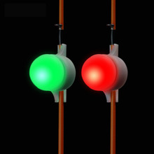 2Pcs  Mini LED Light Automatic Induction Fishing Alarm Rod Tip Carp Night Auto Recognition Bite With Battery