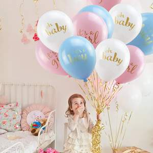 Image 5 - Baby Shower Boy Girl Decorations Set Its a Boy Its a Girl oh baby Balloons Gender Reveal Kids Birthday Party Baby Shower Gifts