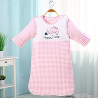 Baby Winter Sleeping Bag Cotton Thick Warm Newborn Envelope Detachable Kids Sleep Gown Roupas De Cama Infantil 80 90cm Length