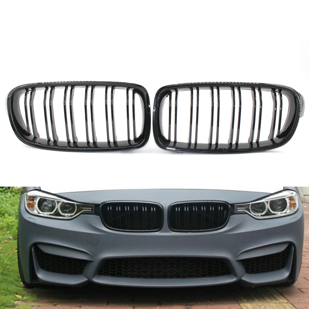 Bumper Grille For 2009-2012 BMW 328i 328i xDrive Center Primed Plastic