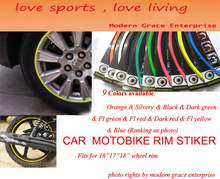 10 Colors 18 Stripes 14 18 Wheel Rim font b Decal b font Sticker for Car