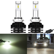 KaTur 2pcs LED Fog Light Bulbs CANBUS Error Free 9005/HB3 9006/HB4 80W Super Bright CSP LED Chips 6000K White LED Lamp Kit(China)