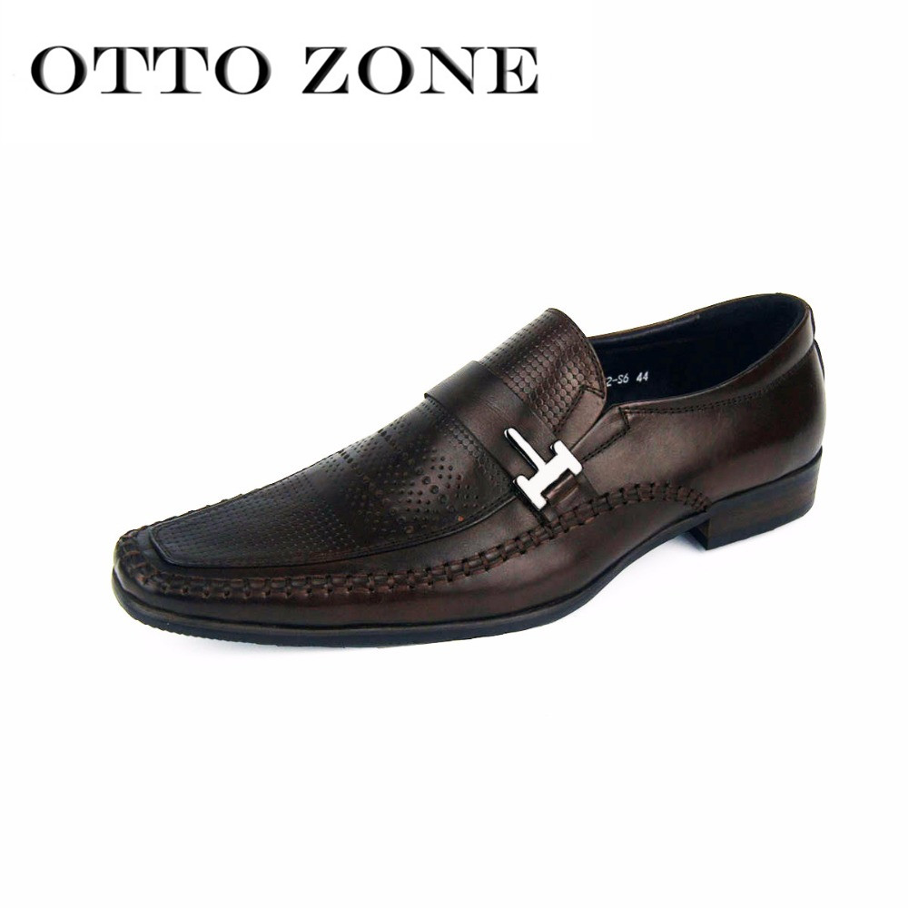 Otto Zone Men Vintage Shoes Brand Genuine Leather Men Carved Casual Shoes Male Business Wedding Shoes Superstar Shoes Oxfords Shoes