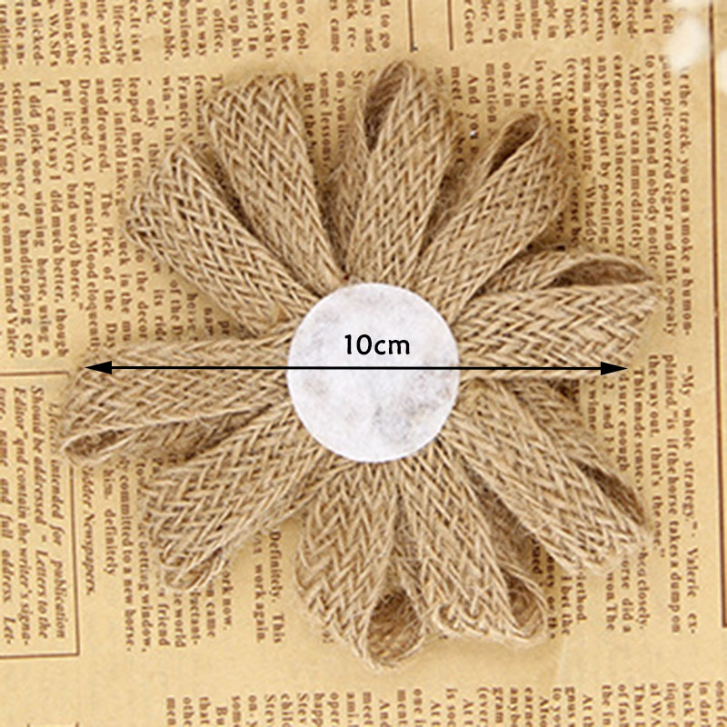2019 Bride Mariage Wedding Decoration Vintage Rustic Rose Flower Burlap Hessian Jute Party Diy Handmade Artificialflowers