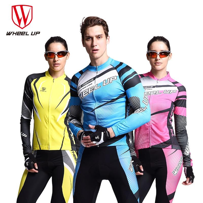 Колеса до весны Воздухопроницаемый быстрая сушка езда на велосипеде одежда мужчины Анти-пот с длинным рукавом Езда на велосипеде брюки велосипед одежда